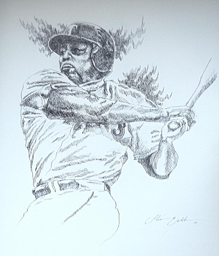 Viadimir Guerrero Drawing by Otis  Cobb