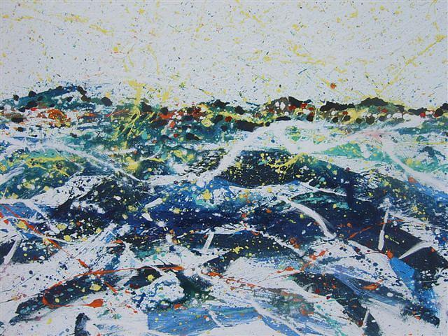 Landscape Painting - Vibracija Vii by Vukovic  Davor