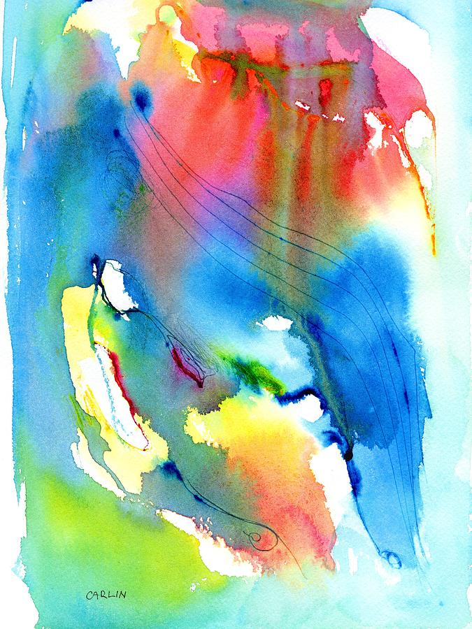 Color Painting - Vibrant Colorful Abstract Watercolor Painting by Carlin Blahnik