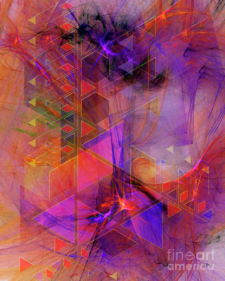 Price Tower Digital Art - Vibrant Echoes by John Beck