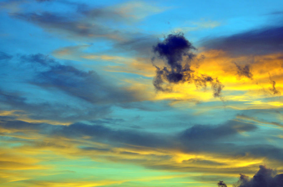 Sky Photograph - Vibrant Evening Sky by Rose  Hill