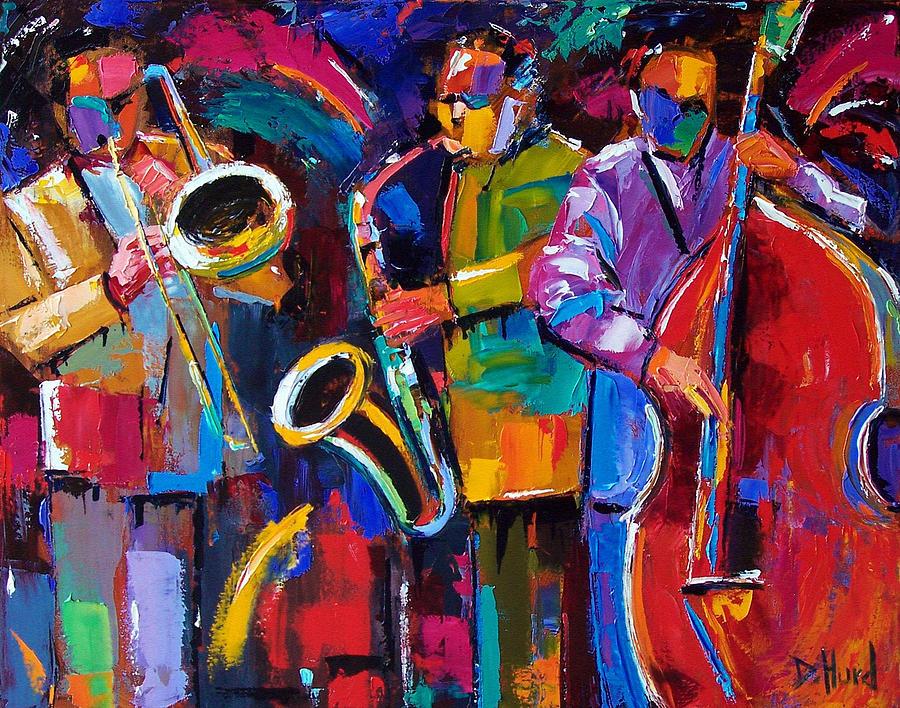 Jazz Painting - Vibrant Jazz by Debra Hurd