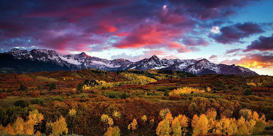 Vibrant Rockies Sunset Photograph
