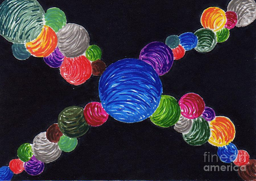 Aceo Painting - Vibrant Spheres by Mark Nicholas