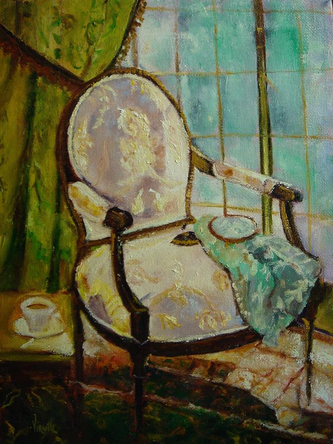 Chair Paintings Painting - Vibrant Still Life Paintings - Afternoon Repose - Virgilla Art by Virgilla Lammons