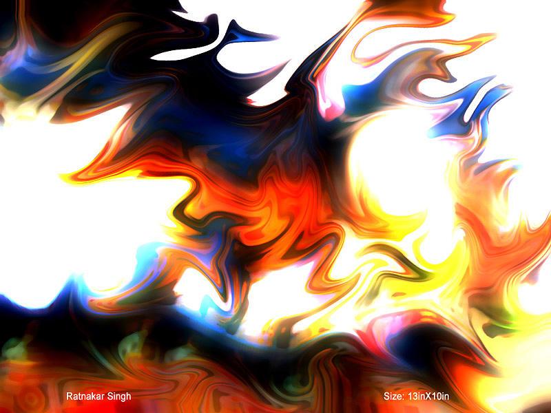 Color Digital Art - Vibration by Ratnakar  Singh