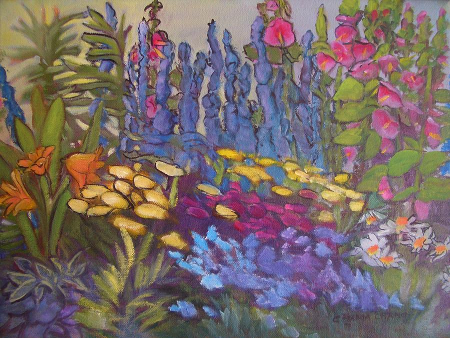 Oil Painting Painting - Vic Park Garden by Carol Hama Chang