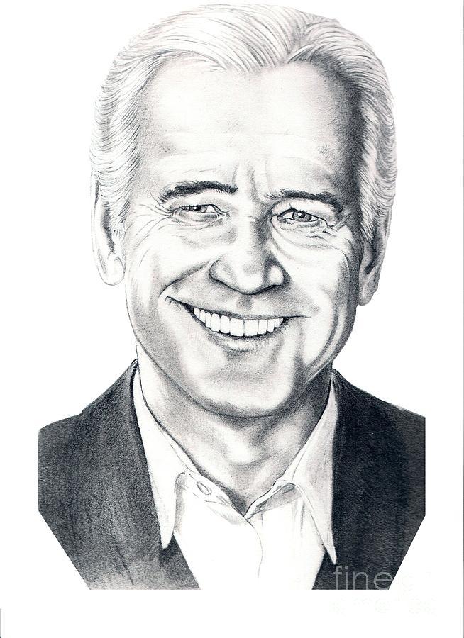 Vice President Drawing - Vice President Joe Biden by Murphy Elliott