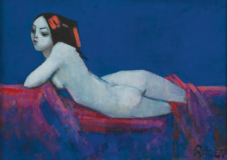 Nude Painting - Vicky by Endre Roder