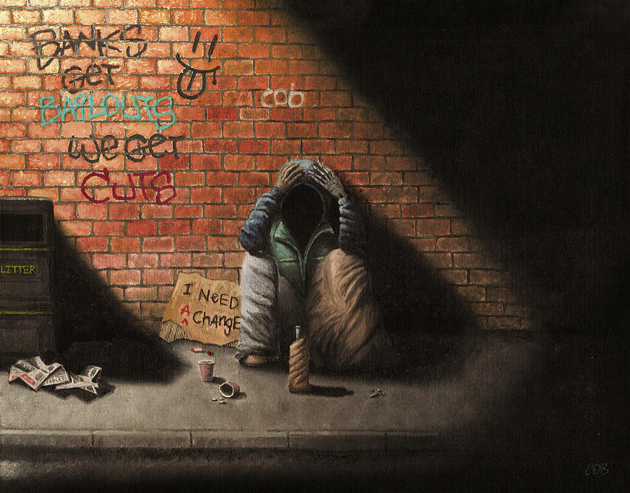 Man Painting - Victim Of Circumstance by Conor OBrien
