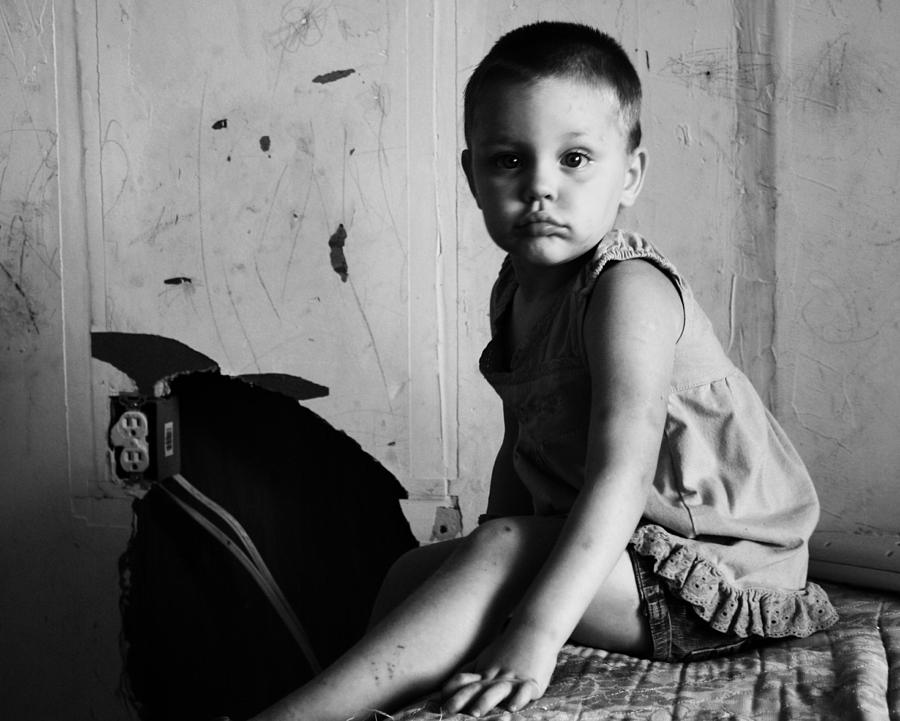 Poverty Photograph - Victim Of Circumstance by Dana  Oliver