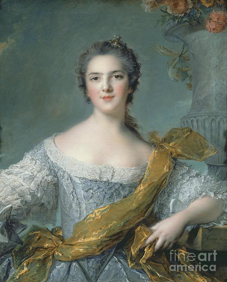 Victoire Painting - Victoire De France At Fontevrault by Jean Marc Nattier