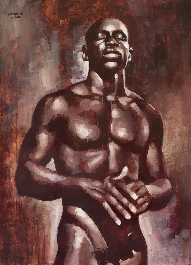 Male Nude Painting - Victor Dreams by Douglas Simonson