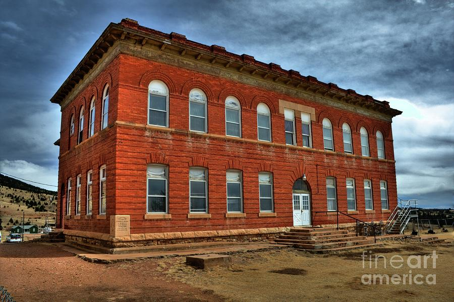 School Photograph - Victor High School by Tony Baca