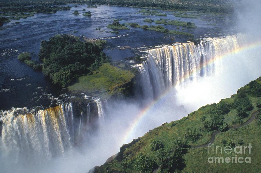 Africa Photograph - Victoria Falls Rainbow by Sandra Bronstein