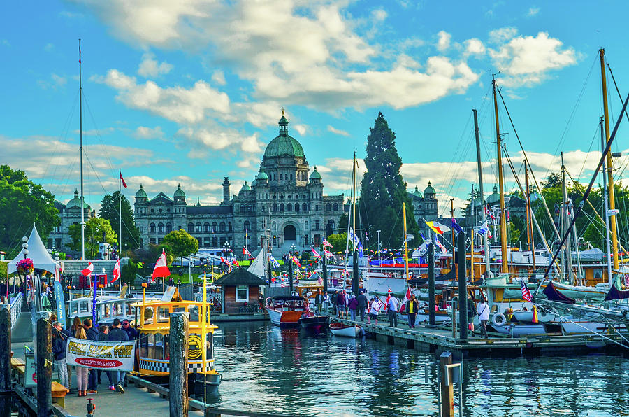 Boats Photograph - Victoria Harbor Boat Festival by Jason Brooks