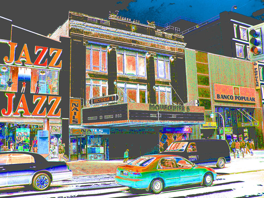 Harlem Photograph - Victoria Theater 125th St Nyc by Steven Huszar