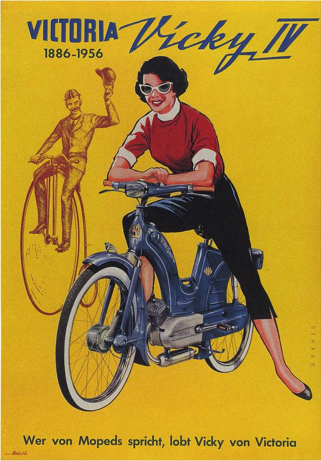 Victoria Vicky Iv - Motorcycle - Vintage Advertising Poster Mixed Media