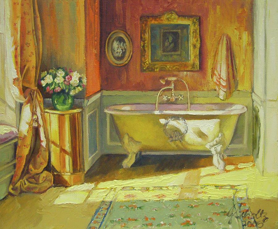 Bath Painting - Victorian Bath by Jonel Scholtz