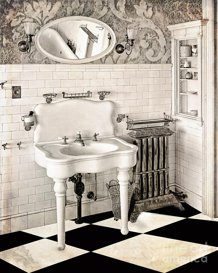 Victorian Bathroom Painting By Mindy Sommers