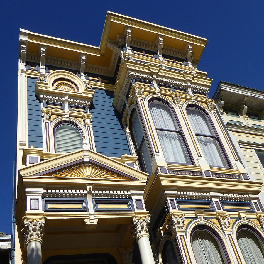 San Francisco Victorian House - Photo Art by Peter Potter