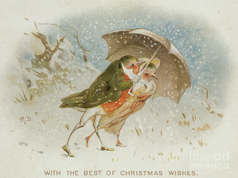victorian drawing victorian christmas card by robert dudley