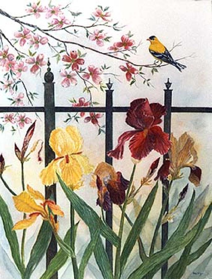 Victorian Garden Painting by Ben Kiger