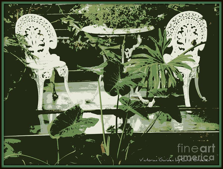 Victorian Photograph - Victorian Garden Poster by Carol Groenen