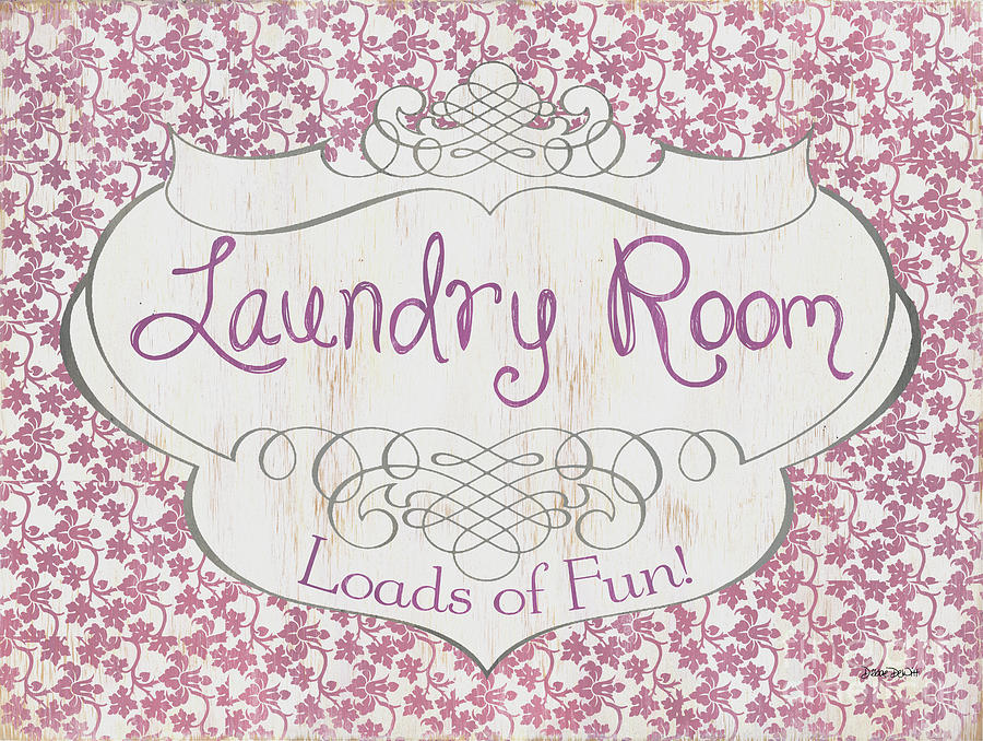 Laundry Painting - Victorian Laundry Room by Debbie DeWitt
