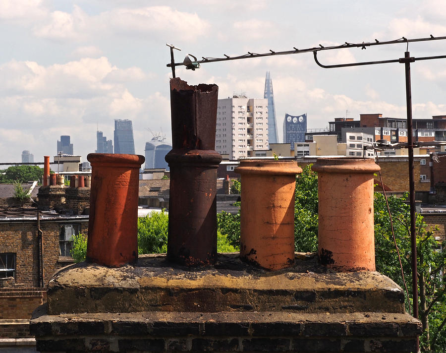 Victorian London Chimney Pots Photograph By Rona Black