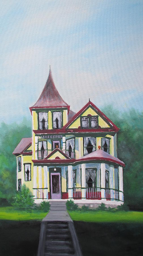 Architecture Painting - Victorian Painted Lady  by Denise   Hoff