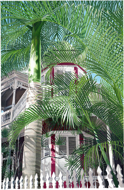 Tropical Painting - Victorian Palms by John Canning