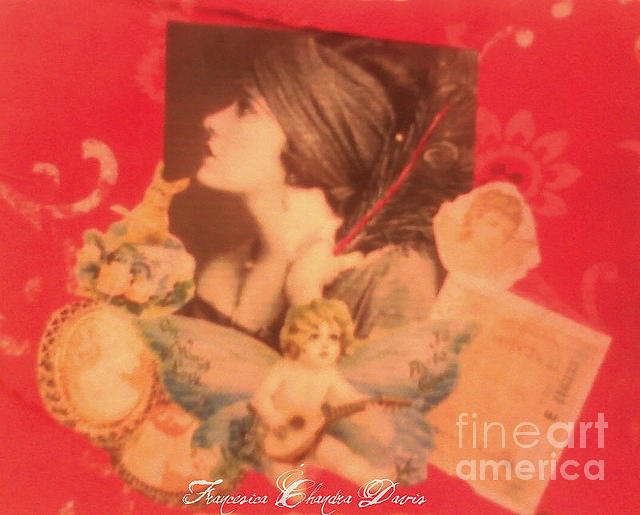 Mixed Media Photograph - Victorian Red by Sacred  Muse
