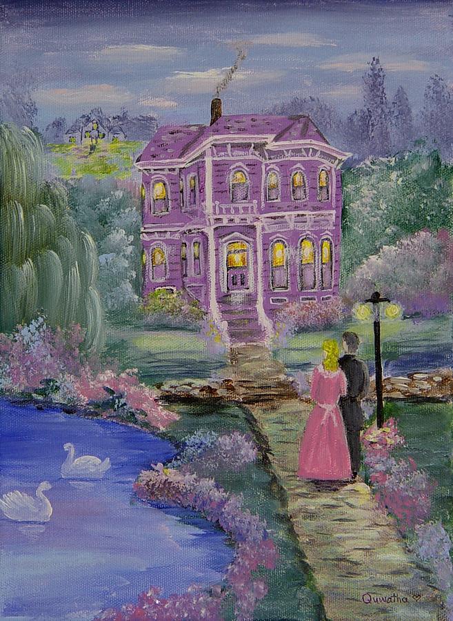 Victorian Painting - Victorian Romance 1 by Quwatha Valentine