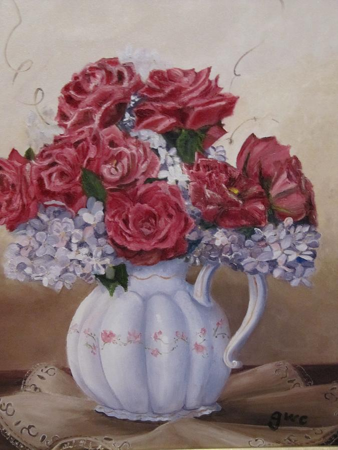 Roses Painting - Victorian Rose by Gloria Condon