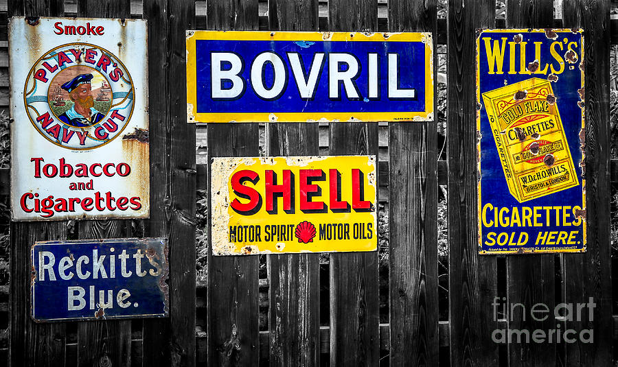 Advertising Photograph - Victorian Signs by Adrian Evans