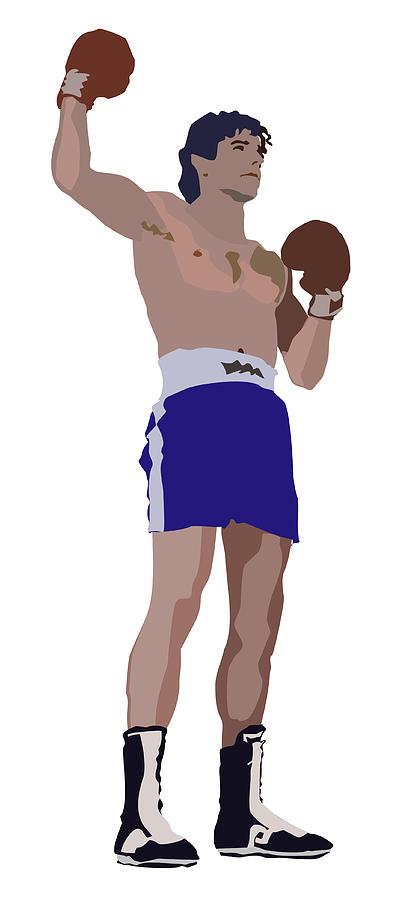 Boxer Digital Art - Victorious Boxer by Robert Bissett