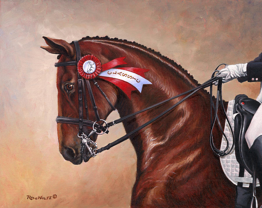 Horses Painting - Victorious by Richard De Wolfe