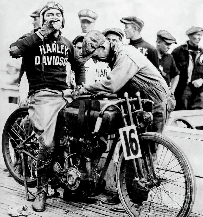 Indian Motorcycle Photograph - Victory at the Track by Jon Neidert