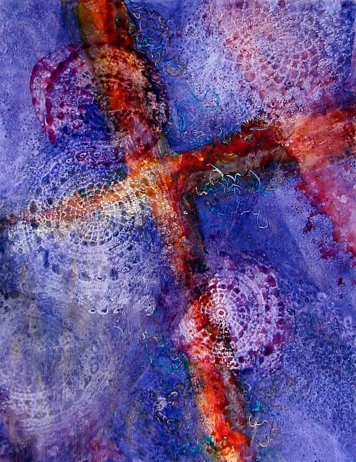 Cross Painting - Victory by Marsha Elliott