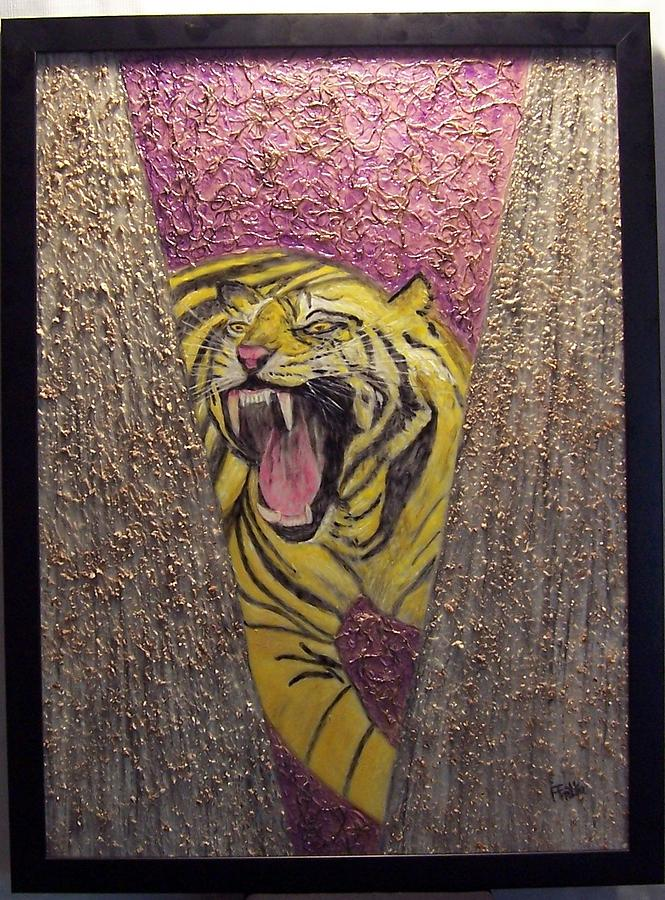 Tiger Mixed Media - Victory Tiger Roar 2 by Anneliese Fritts