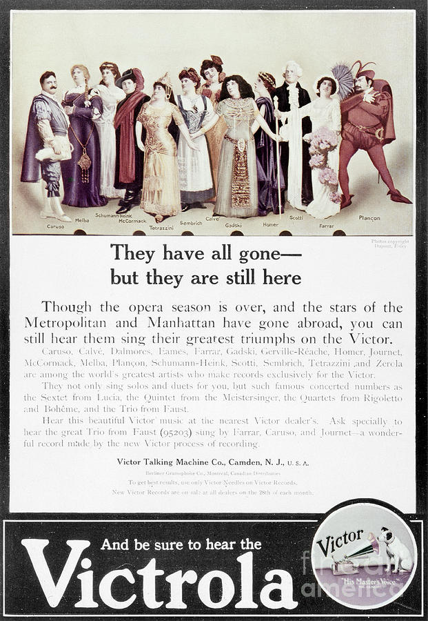 1905 Photograph - Victrola Advertisement by Granger