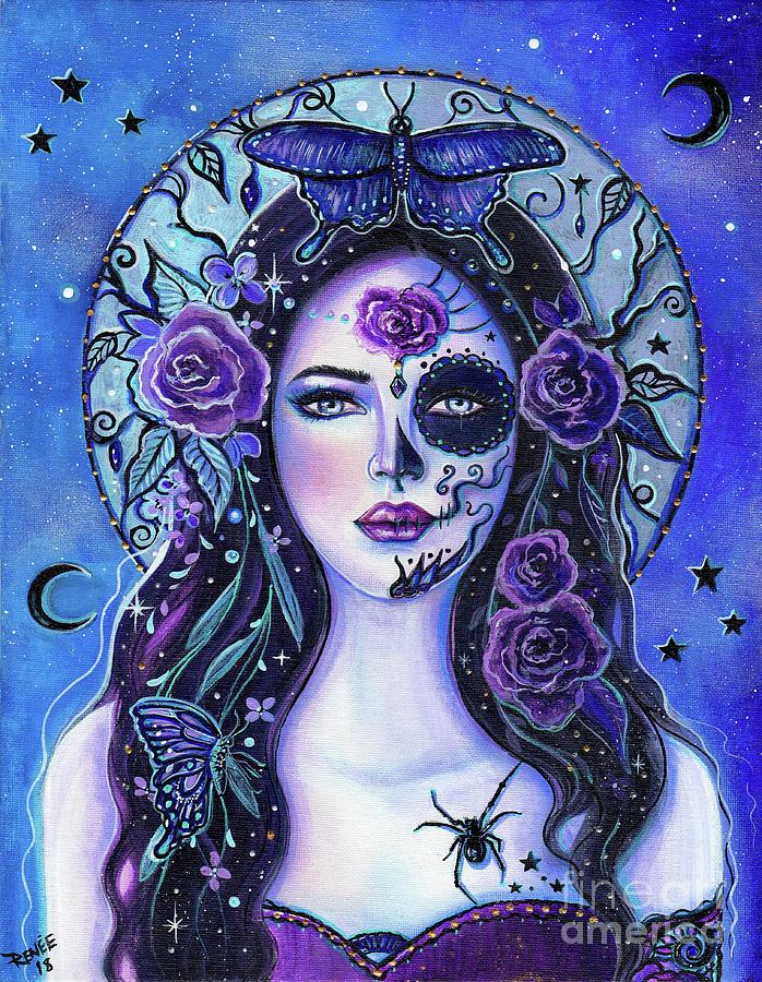 Day Of The Dead Painting - Vida Y Muerte by Renee Lavoie