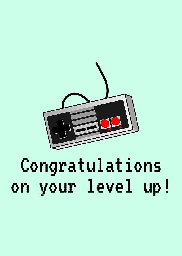 Video Gamer Birthday Card - Retro Game Console Card - Video Game Nerd -  Congratulations On Your Leve by Joey Lott