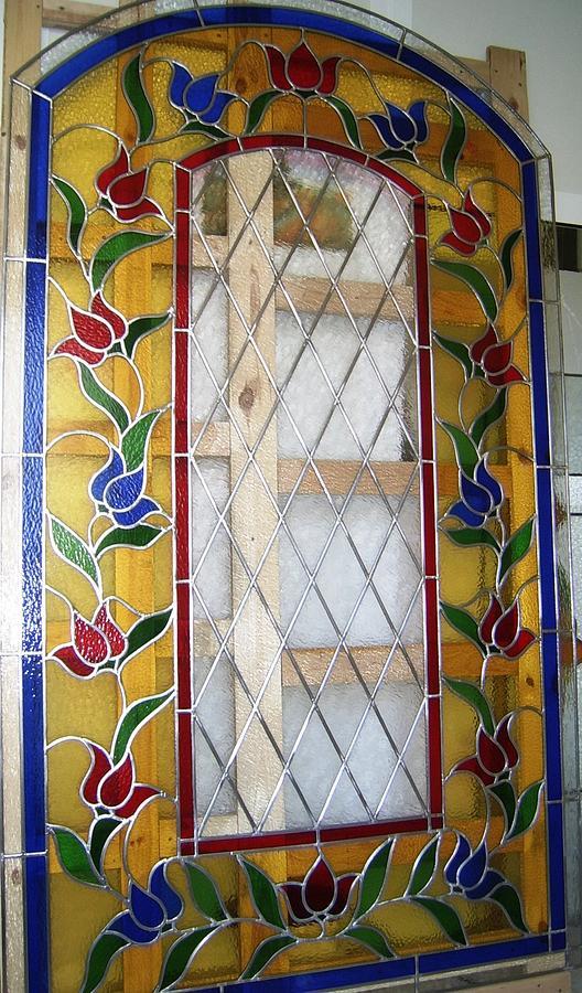 Vidriera De Flores Glass Art by Justyna Pastuszka