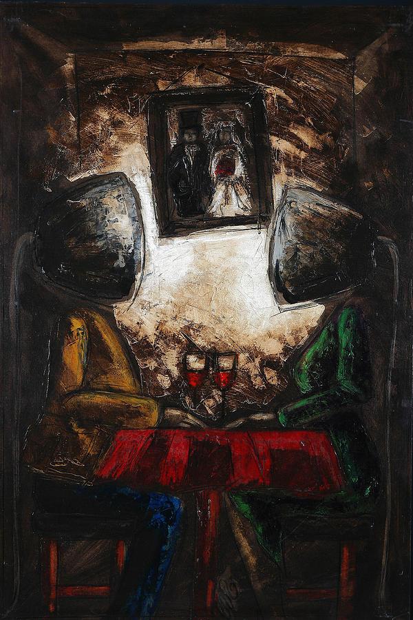 Vie A Vie Painting by Caroline BLANCHEMAIN
