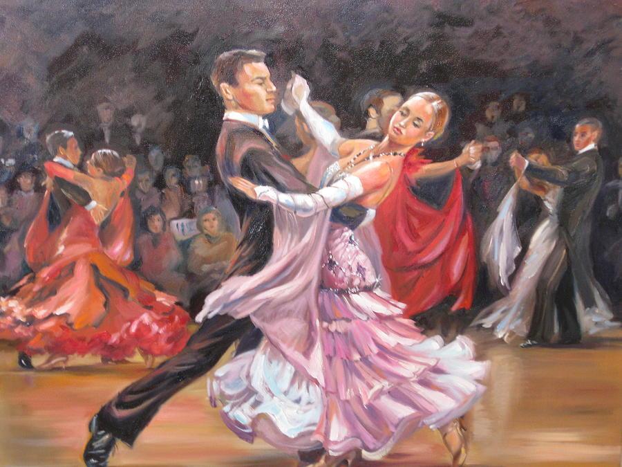 Dance Painting - Vienesse Waltz by Ekaterina Pozdniakova