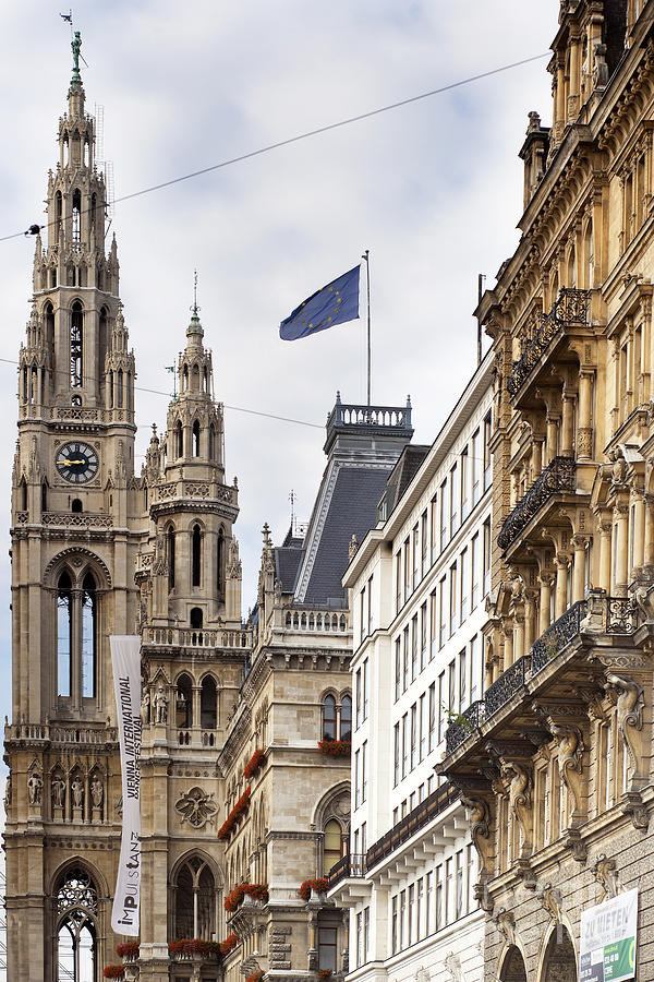 Architecture Photograph - Vienna City Hall by Andre Goncalves