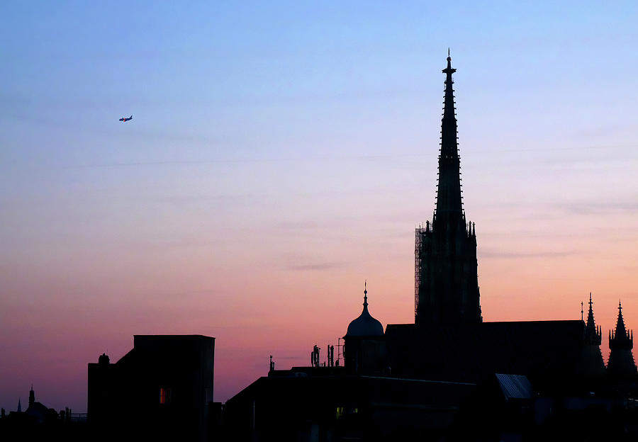 Vienna City Silhouette Photograph
