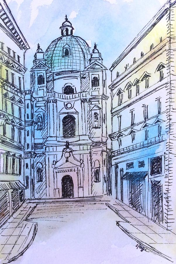 Vienna Painting - Vienna by Emily Page
